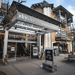 This is a picture of the front entrance gate of Skycity Queenstown Casino. The gaming venue is owned by the SkyCity Entertainment Group. To the right of the picture you can read more about this particular casino.