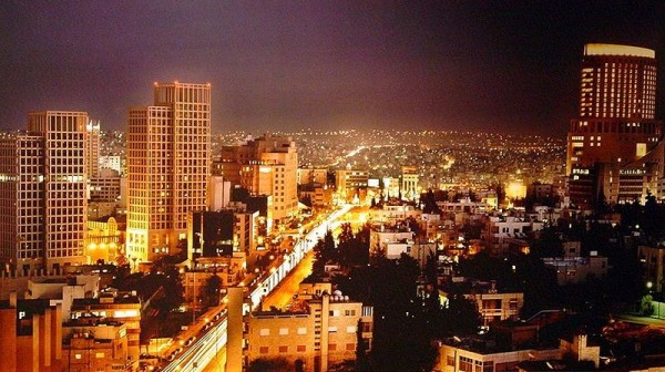 Picture of the capital city of Jordan, Amman. Gambling is illegal in the country.