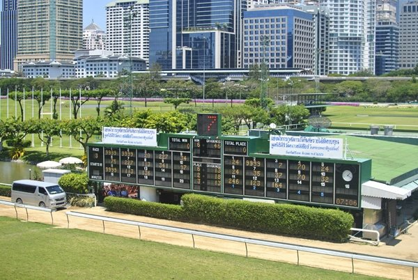 Royal Turf Club, one of the two horse race tracks in Thailand where betting is legal