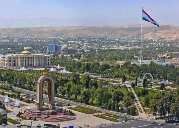 Park in Dushanbe, the capital of Tajikistan