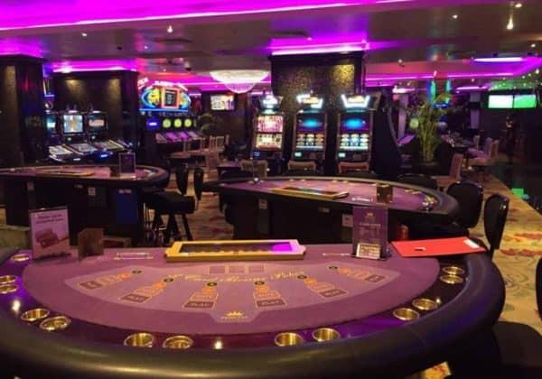 Gaming table in the Princess Casino in Tanzania