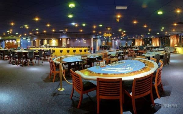 Gaming tables in the Grand Casino Noumea in New Caledonia