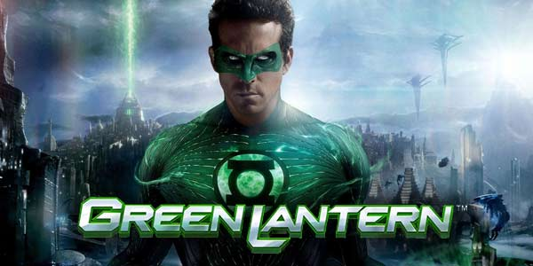 This is a screencap from the 2011 Green Lantern movie used with premission of DC Comics. This is the header iamge of the online digital slot's webpage. On this webapge you can play the Green Lantern licensed slot by Playtech. the picture features Green Lantern as he appeared in the 2011 movie, play by Ryan Reynolds.