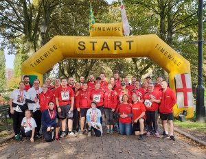 Heroes complete run in memory of much-loved charity member