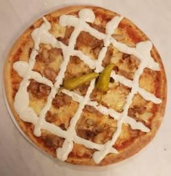 Kyckling kebab pizza