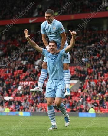 Alexandr Kolarov & Edin Dzeko (Manchester City)