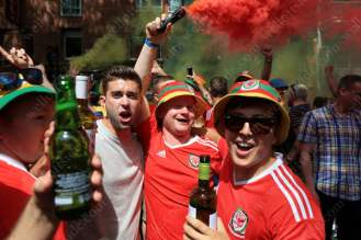 Welsh fans out in force