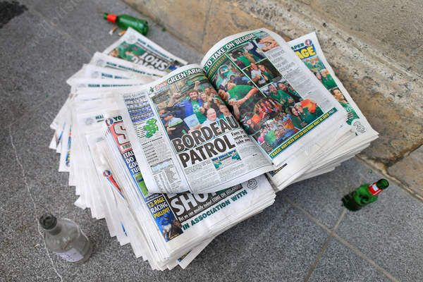 Copies of the Irish Daily Star report on 'Bordeaux Patrol'
