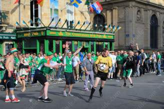 Football on the streets outside the pub