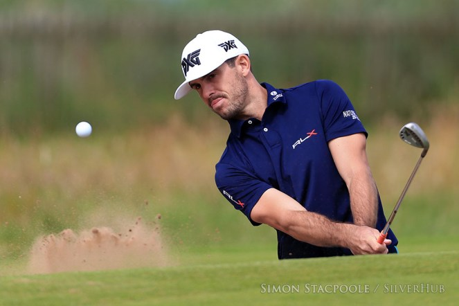 TROON, SCOTLAND - JULY 12: Billy Horschel (USA) chips out of the bunker during the penultimate practice round prior to the 145th Open Championship at Royal Troon Golf Club on 12th July 2016 in Troon, Scotland. Photo by Simon Stacpoole/SilverHub 0203 174 1069 / 07711 972644