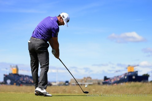 TROON, SCOTLAND - JULY 14: Billy Horschel (USA) on the 18th tee during the 145th Open Championship at Royal Troon Golf Club on 14th July 2016 in Troon, Scotland. Photo by Simon Stacpoole/SilverHub 0203 174 1069 / 07711 972644