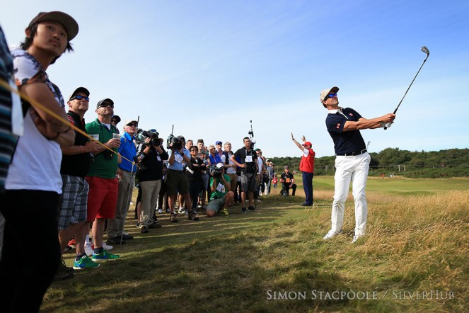 TROON, SCOTLAND - JULY 14: Adam Scott (AUS) in action during the 145th Open Championship at Royal Troon Golf Club on 14th July 2016 in Troon, Scotland. Photo by Simon Stacpoole/SilverHub 0203 174 1069 / 07711 972644