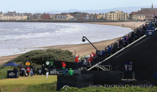 TROON, SCOTLAND - JULY 16: Luke Donald (ENG) on the 1st tee during the 145th Open Championship at Royal Troon Golf Club on 16th July 2016 in Troon, Scotland. Photo by Simon Stacpoole/SilverHub 0203 174 1069 / 07711 972644
