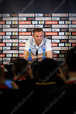 England captain Wayne Rooney speaks during a press conference as he announces he plans to retire from international football after the 2018 FIFA World Cup
