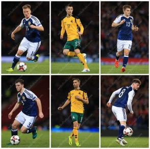 A grid of stock pictures from Scotland's match against Lithuania