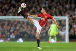 Ander Herrera of Man Utd stretches for the ball