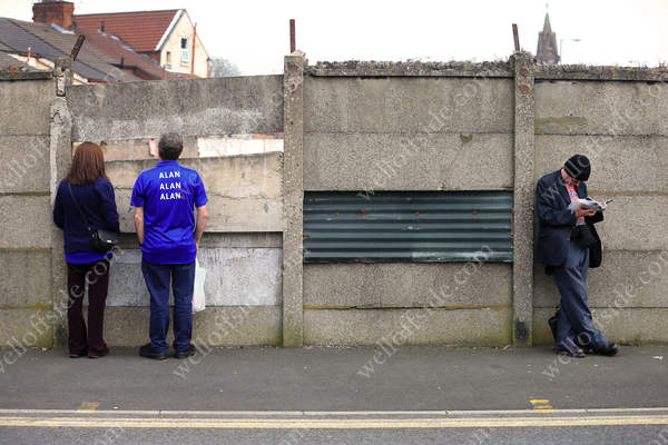 Everton fans survey the local scenery