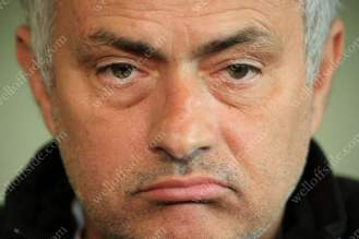 Man Utd manager Jose Mourinho looks decidedly uninterested during a press conference ahead of the UEFA Europa League Final