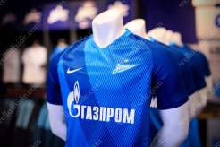 Replica shirts for sale in the Zenit club shop