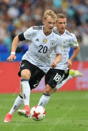 Julian Brandt of Germany (L) and teammate Joshua Kimmich