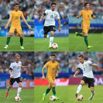 A grid of stock pictures from Germany's match against Australia