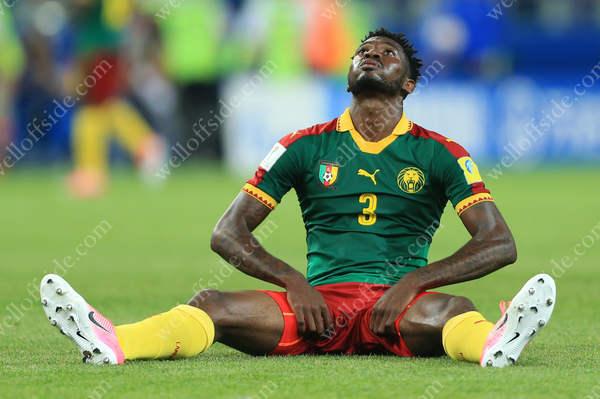 Andre-Frank Zambo Anguissa of Cameroon looks dejected