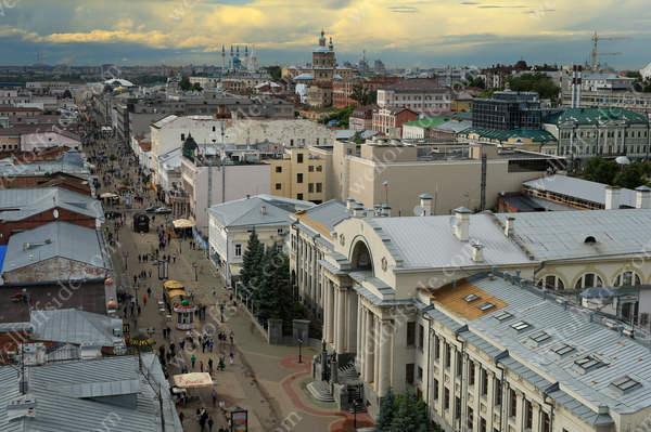 An overview of downtown Kazan