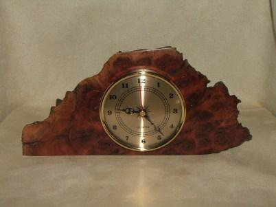 Redgum Burl Clock