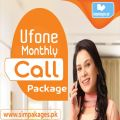 Ufone monthly call package