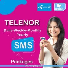 telenor daily weekly monthly yearly sms packages