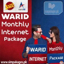 warid monthly internet packages