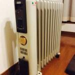 冬の必需品デロンギのオイルヒーター★加湿器不要の、優しい暖かさ。