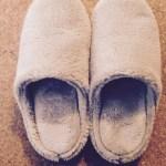 無印の冬スリッパはセールで買っておいた★絶対に使うとわかっているもの&服は、セールで買っておく派。