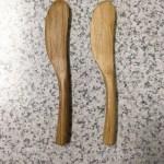 IKEAで買った、竹のバターナイフOSTBIT★お安いのに、すごく塗りやすくて感動(笑)