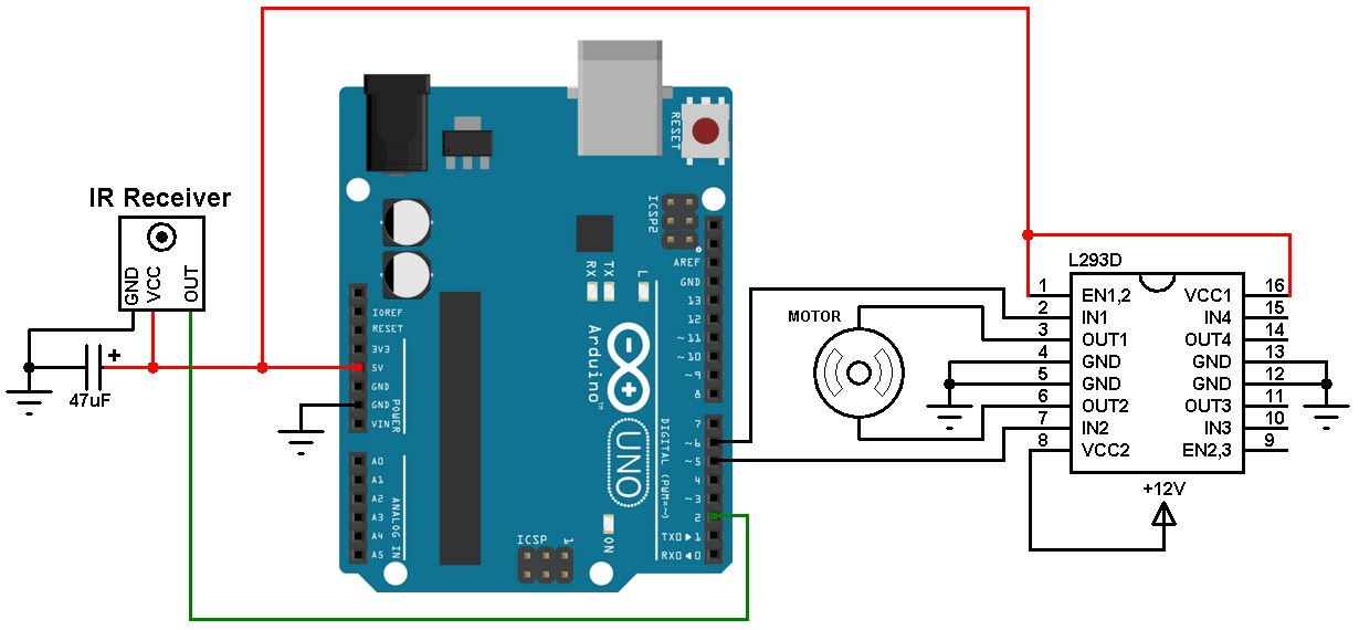 Arduino Based Remote Controlled DC Motor