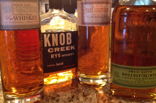 taos lightning, knob creek, bulleit ryes