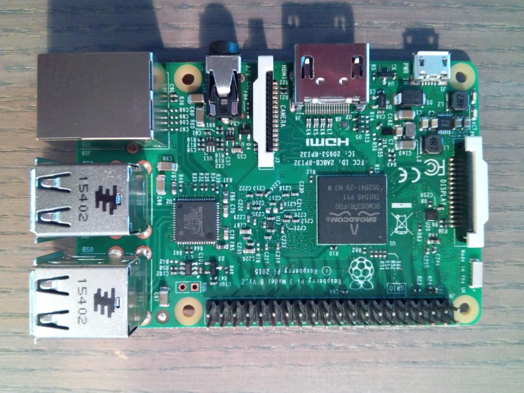 Raspberry Pi 3 de dessus