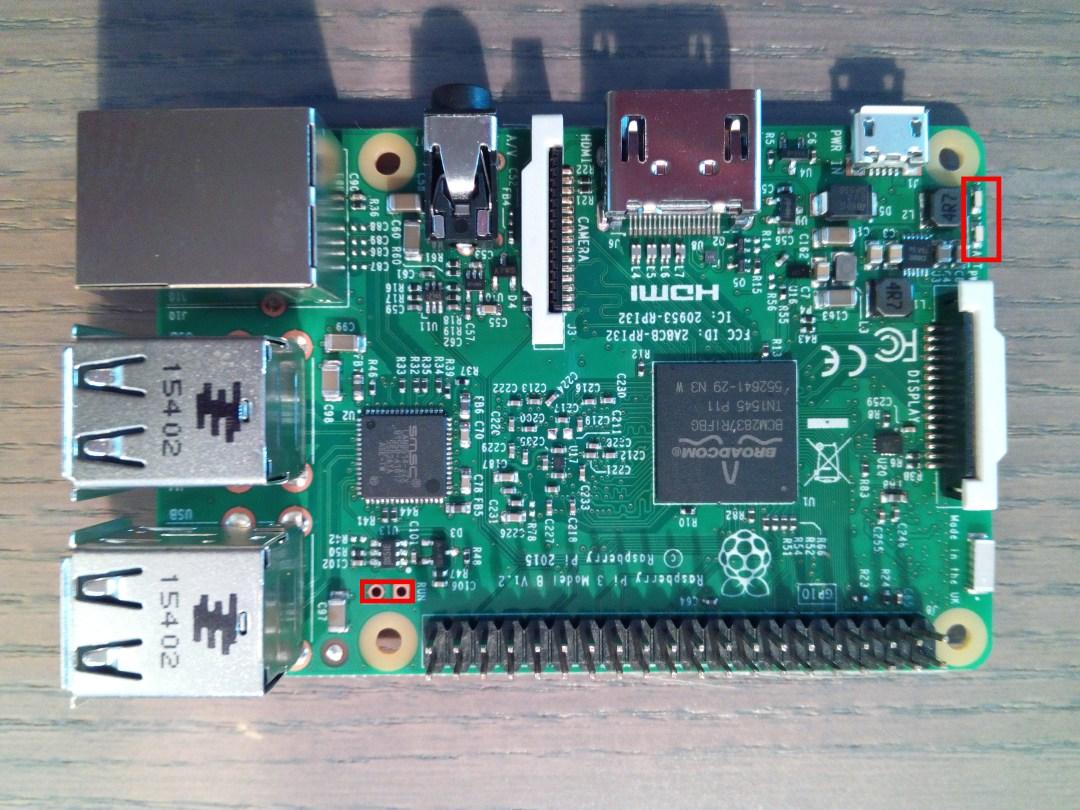 Modifications Raspberry Pi 3 dessus