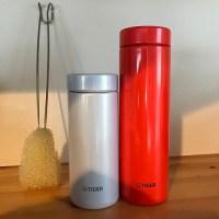 水筒と水筒洗いタワシ