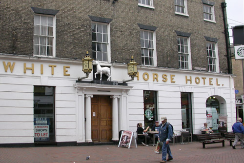 the White Horse Hotel immortalised by Dickens has fallen on hard times