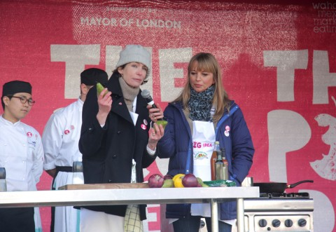 Thomasina Meiers and Sara Cox at The Pig Idea