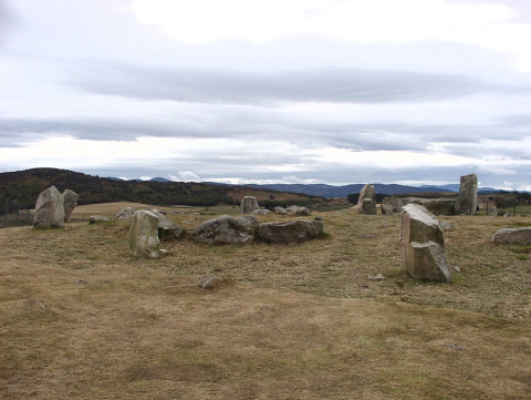 Tomnaverie stone circle in Aberdeenshire
