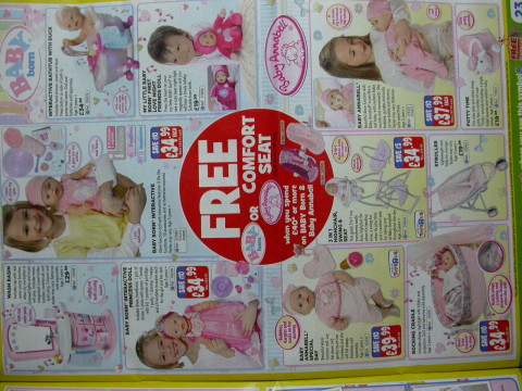 dolls for the girls, on a  pink page theme, natch