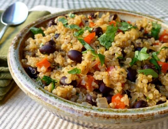 Cumin Scented Black Beans and Quinoa