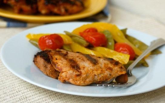 Spicy Grilled Chicken Thighs