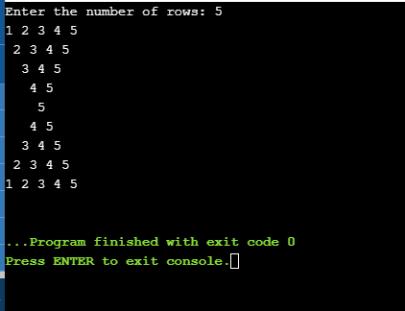 Number Pattern java