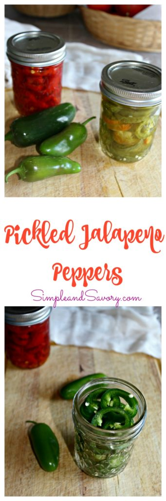 Pickled Jalapeno Peppers recipe easy to make SimpleandSavory.com