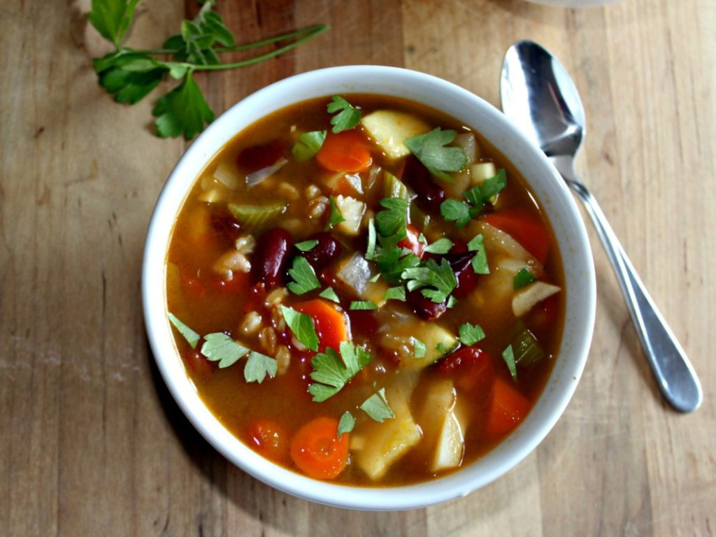 recipe: simple minestrone soup [35]