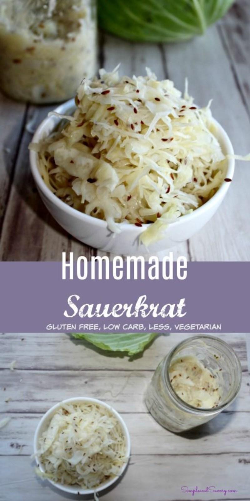 Homemade Sauerkraut Vegetarian gluten free