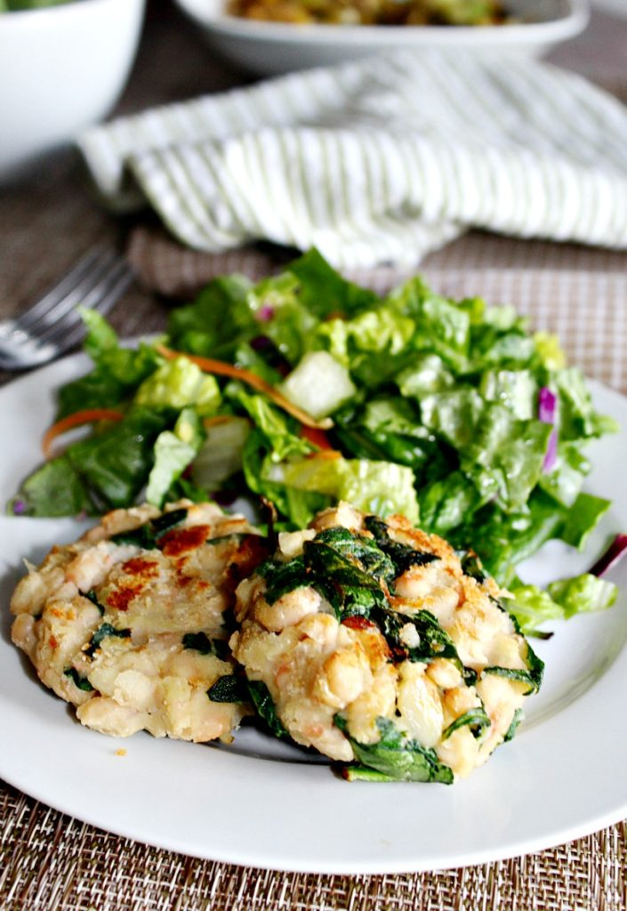 White Bean Burgers with spinach and garlic Simple and savory